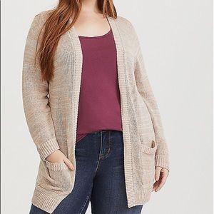 Nwt Torrid size 4 Longline Open Cardigan Sweater